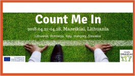 """COUNT ME IN"" - schimb de tineret"