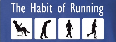 The habit of running logo